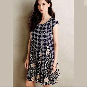 Anthropologie Maeve Dress Medium Blue India Swing